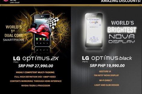 LG Optimus 2X & Black Online Discounts Up to 5k–Weird Promo