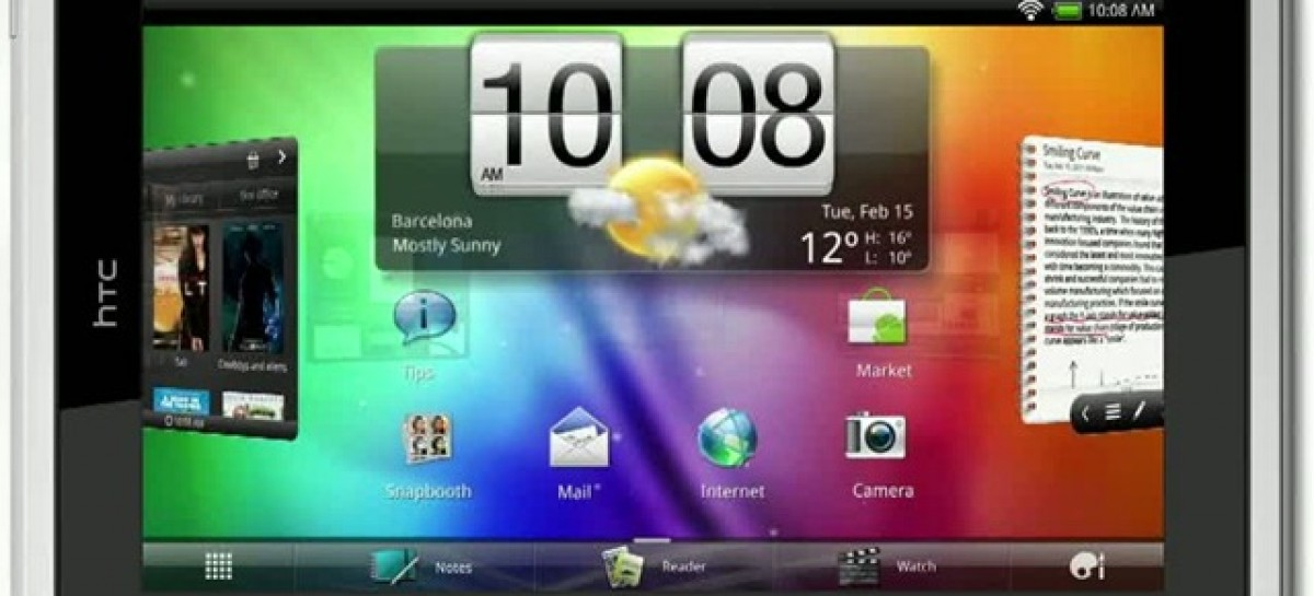 HTC Flyer Tablet Now Available-We Check One Out In Video