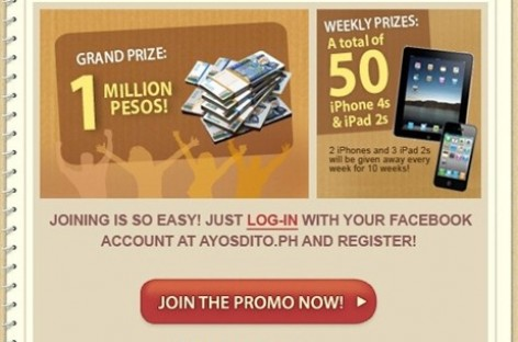 AyosDito.PH Invites You To Connect With Your Facebook Account & Win Prizes