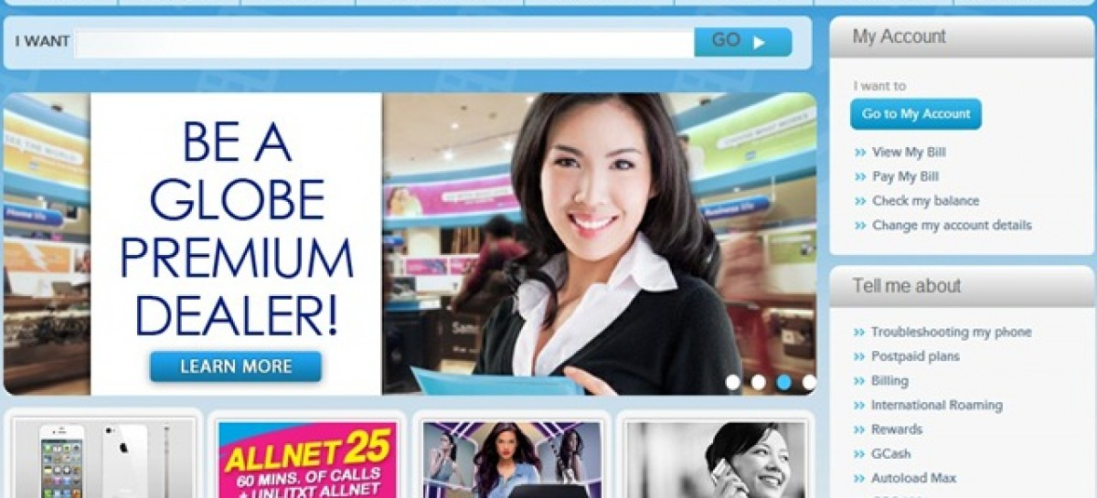 "Globe Upgrades Website Portal–Allows Users To ""Self Serve"" With Features, FAQs & Reports"