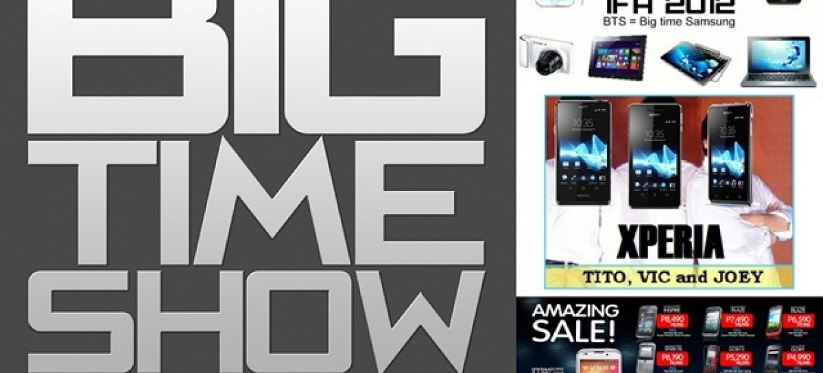 Big Time Show (9/1/2012)–Galaxy Note 2, Xperia TVJ, AppSung 2, Android Sales & More!