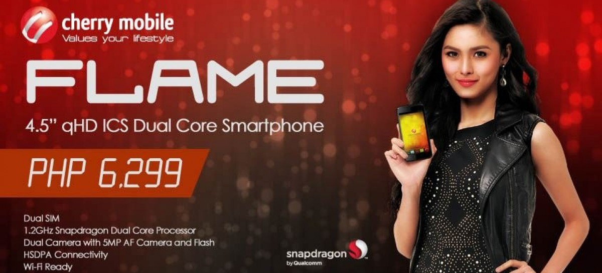 "Cherry Mobile Reveals 4.5"" qHD Dual-Core Android–PHP 6,299 & Available This Month"