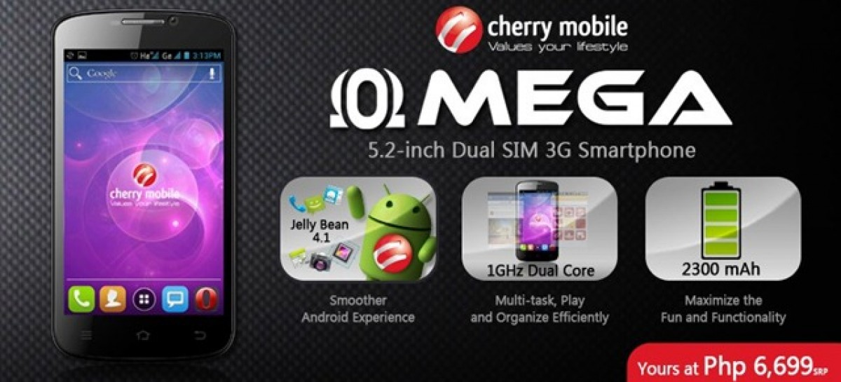 """Cherry Mobile Finally Reveals OMEGA–Jelly Bean, 5.2"""" Screen, & Dual-Core For PHP 6,699"""
