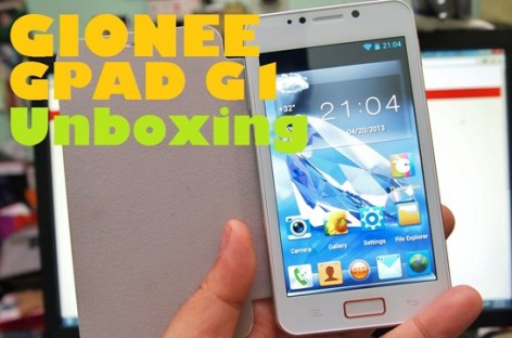 "Gionee GPad G1 Unboxing–5"" Dual-Core Droid With Free Flip Cover & Battery For PHP 10.8k"