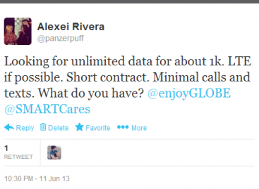 Yesterday I Asked Globe & Smart About Data Plans, But Nobody Cared Enough To Reply