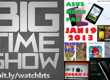 BTS 1/19/2013–TJ's CM Flame, Apple Stocks, Asus MeMO Pad, & More! (Catch Up Episode)