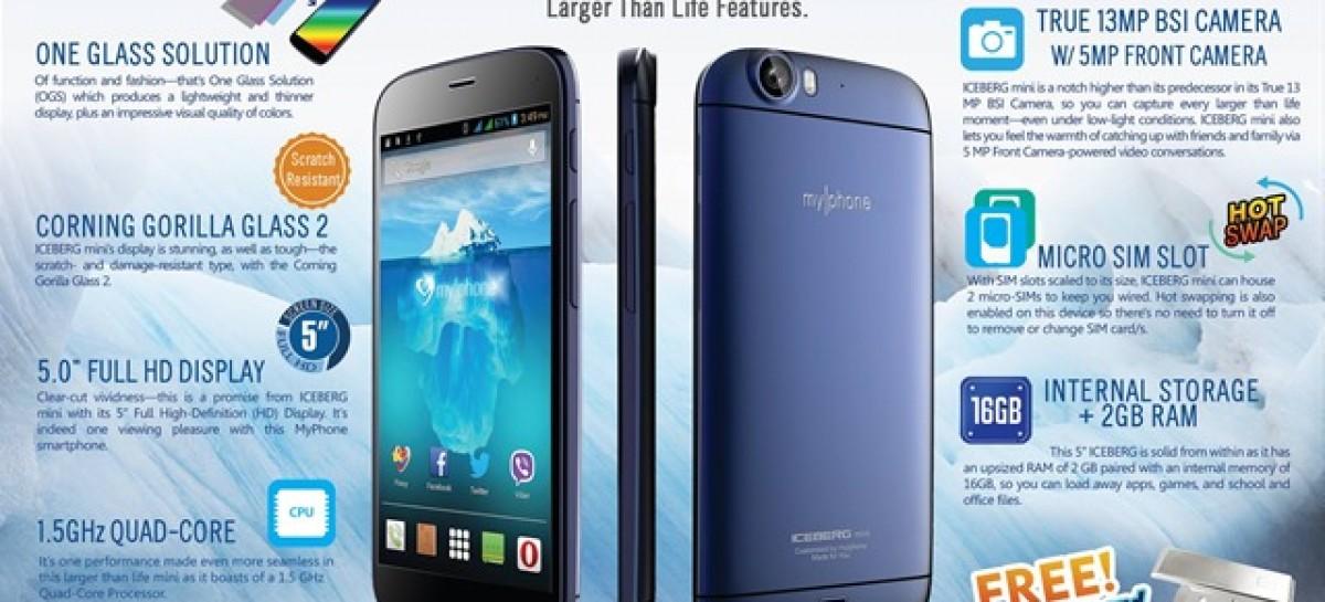 "MyPhone Iceberg Mini Confirmed! 1.5Ghz Quad-Core; 5.0"" FullHD; 13+5MP For PHP 13k"