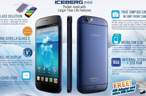 "MyPhone Iceberg Mini Confirmed! 1.5Ghz Quad-Core; 5.0"" FullHD; 13+5MP For PHP 13k"