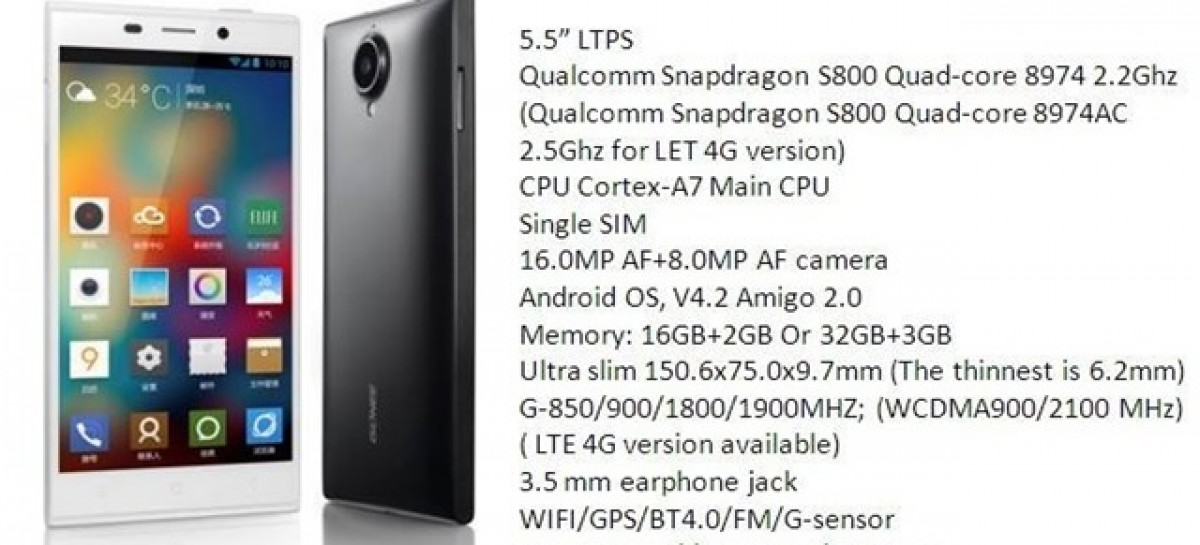 Gionee To Launch Elife E7–A FullHD Quad-Core Snapdragon 800 Android With LTE Soon?