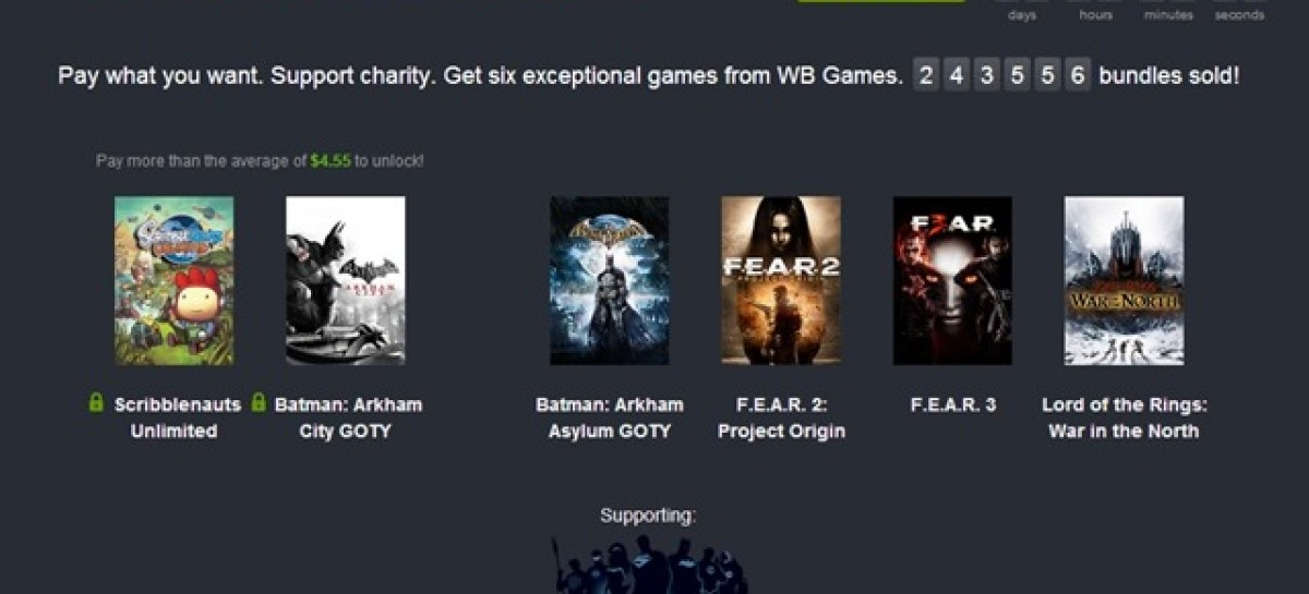 Pay Whatever You Want For Two Batman Games, FEAR 2 & 3, LOTR, & Scribblenauts