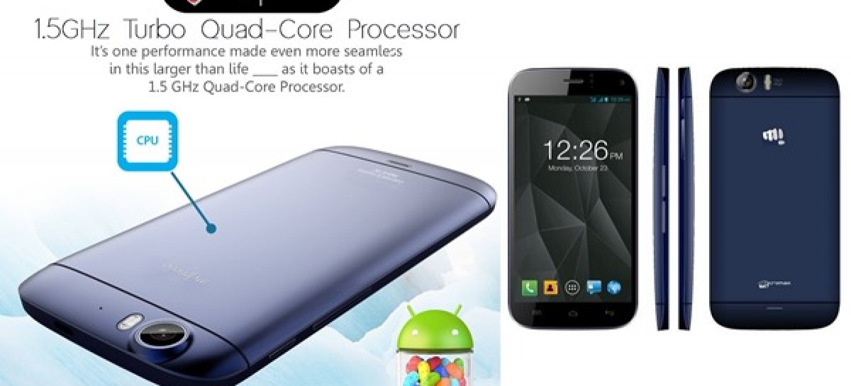 "MyPhone To Launch FullHD 5.0"" 1.5Ghz Quad-Core Droid–Likely A Micromax Canvas Turbo"