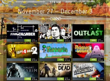 Steam Thanksgiving Sale Day One: $8 Or Less For Skyrim, Sleeping Dogs, Walking Dead, Etc.