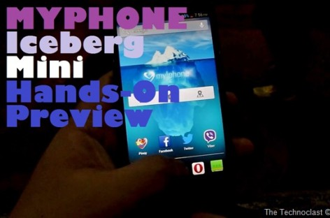 "MyPhone Iceberg Mini Hands-On–5.0"" FullHD Quad-Core Droid With 13+5MP For PHP 12,888"