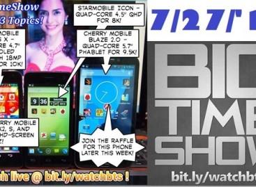 BTS 7/27/2013–Cherry Mobile Cosmos X, X2, S, Z, Blaze 2.0, Starmobile Icon (Catch Up Ep)