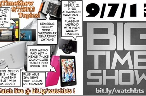 BTS 9/7/2013–Lumia 625, Samsung Note 3, Asus MemoPad HD7, Xperia Z1 (Catch Up Ep)