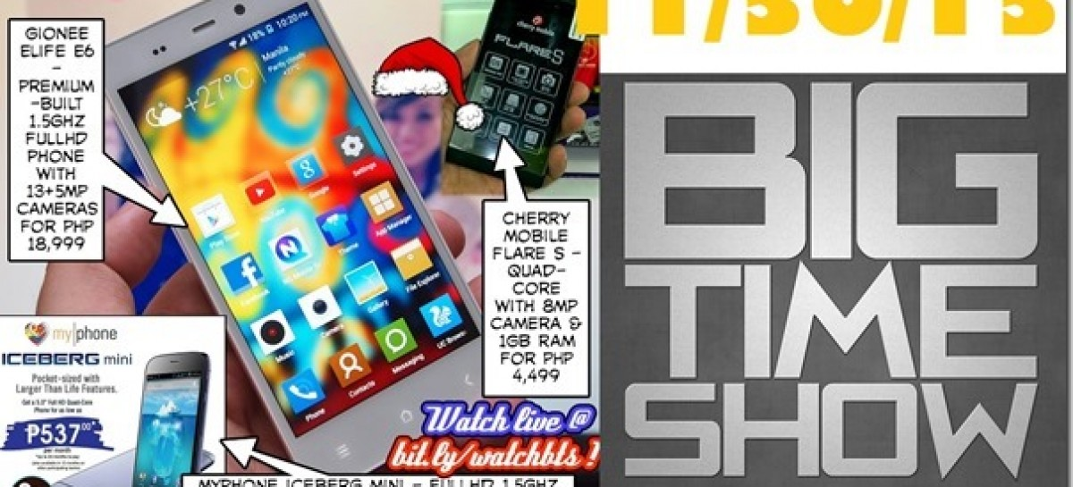 BTS 11/30/2013–MyPhone Iceberg Mini, Gionee Elife E6, CM Flare S (Catch Up Ep)