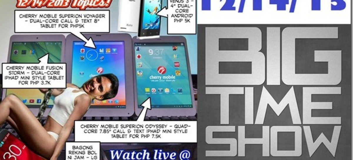BTS 12/14/2013–Cherry Mobile Superion Odyssey, Kata Venus 3, LG G2 (Catch Up Ep)