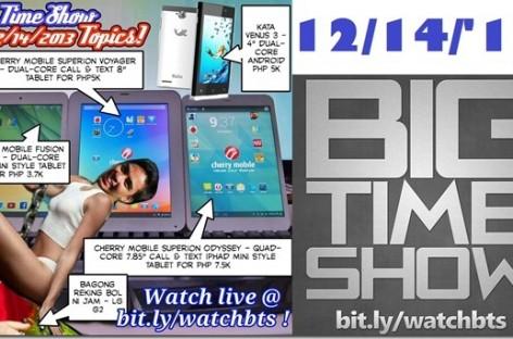 BTS 12/14/2013–Cherry Mobile Superion Odyssey, Kata Venus 3, LG G2 (Catch Up Ep)