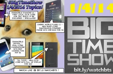 BTS 1/4/2014–Starmobile Diamond X1, Crystal, Cherry Mobile Flare 2.1, THL T100S