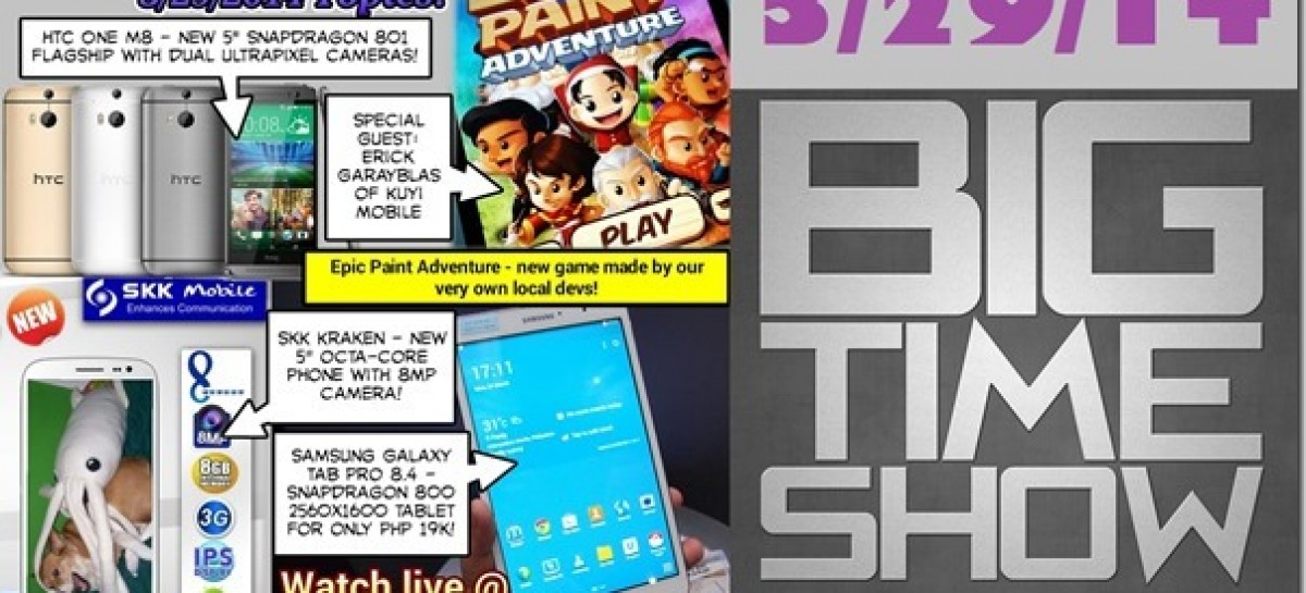 BTS 3/29/2014–SKK Kraken, HTC One M8, Epic Paint Adventure, Galaxy Tab Pro 8.4