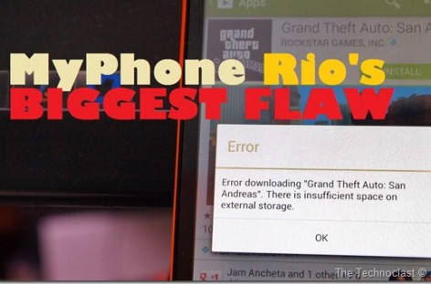MyPhone Agua Rio's Biggest Flaw–Installing Apps On SD Card Not Allowed; Limited Space