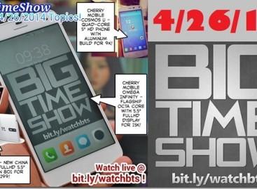BTS 4/26/2014 – Cherry Mobile Cosmos U, Omega Infinity, OnePlus One, Xiaomi Redmi
