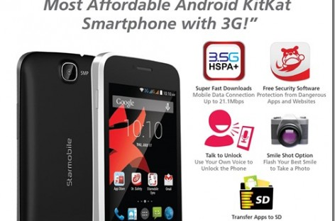 Starmobile Announces Affordable Vida–3G Capable Kitkat Phone For Only PHP 2,490