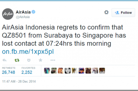 BREAKING: AirAsia Flight QZ8501 From Indonesia To Singapore Missing