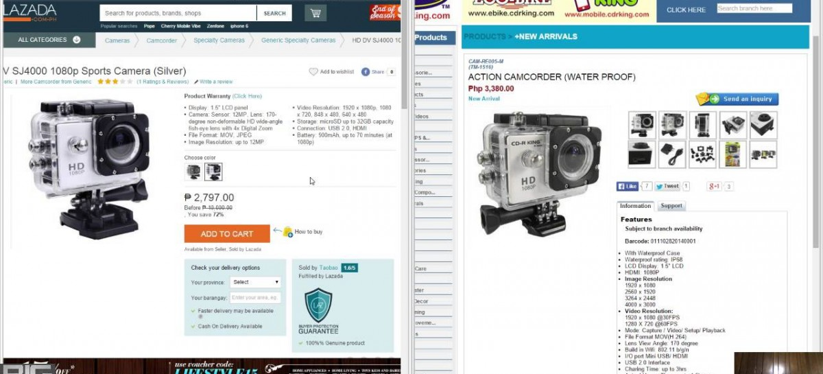 "Alex Reacts To The CD-R King Action Camcorder ""GoPro"" Alternative PHP 3,380"