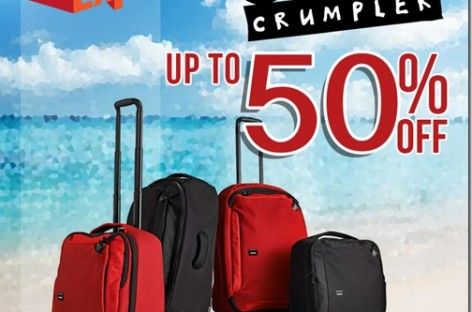 Up To 50% Off Crumpler Bags At The TravelTour Expo This February 13-15