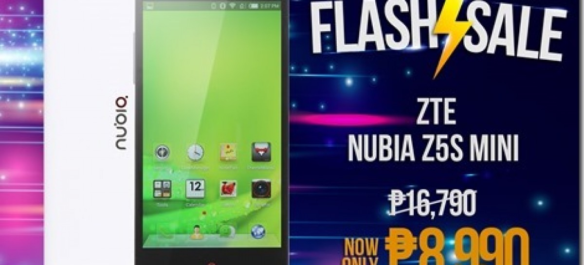 Lazada & ZTE To Discount Nubia Z5S Mini Tomorrow–Snapdragon 400 & LTE For P9k!