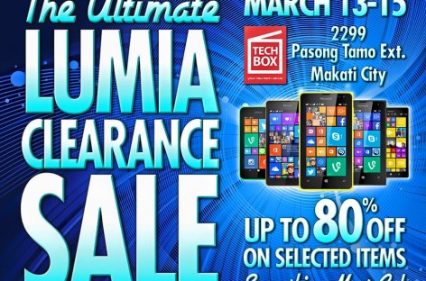 Massive Nokia Sale Tomorrow At TechBox Pasong Tamo – 80% Off!