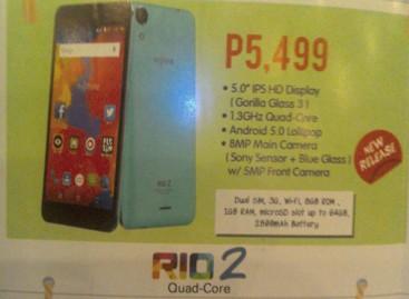 MyPhone Launches Lollipop-Powered Quad-Core Rio 2 & Rio 2 Lite