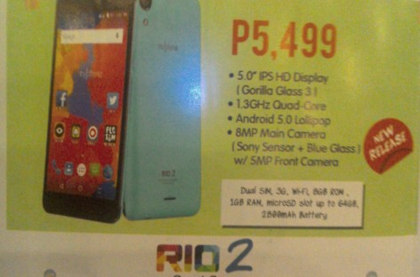 MyPhone Launches Lollipop-Powered Quad-Core Rio 2 & Rio 2 Lite