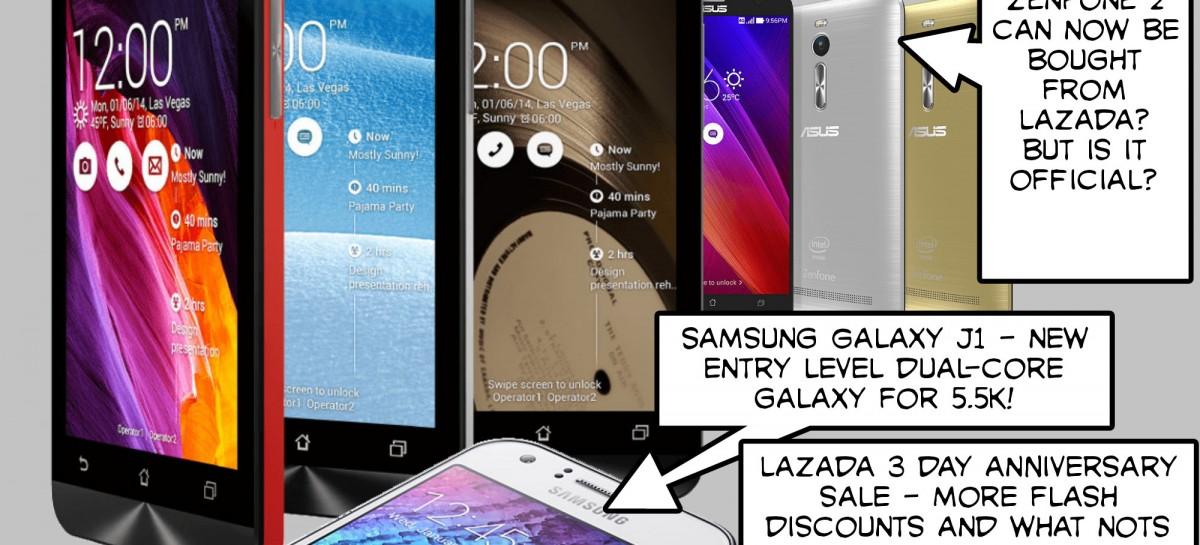 BTS 3/21/2015 – Asus Zenfone C?!?! Where's Zenfone 2?, Samsung Galaxy J1, Lazada 3rd Anniv Sale, …