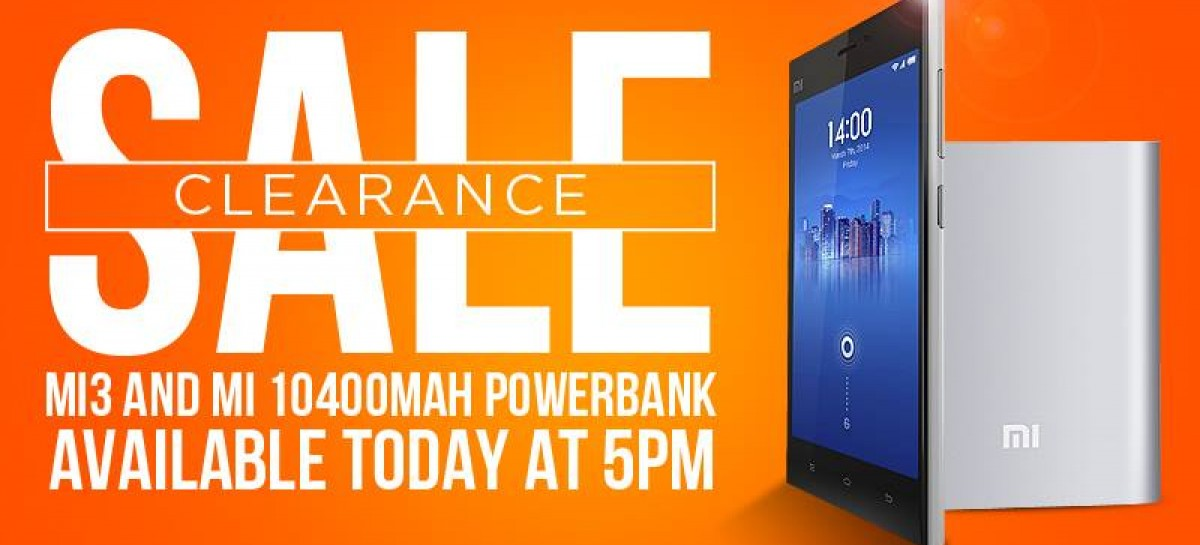 Heads Up! Xiaomi Holding Clearance Sale For Mi3 & 10,400mAh Powerbank @ 5PM!
