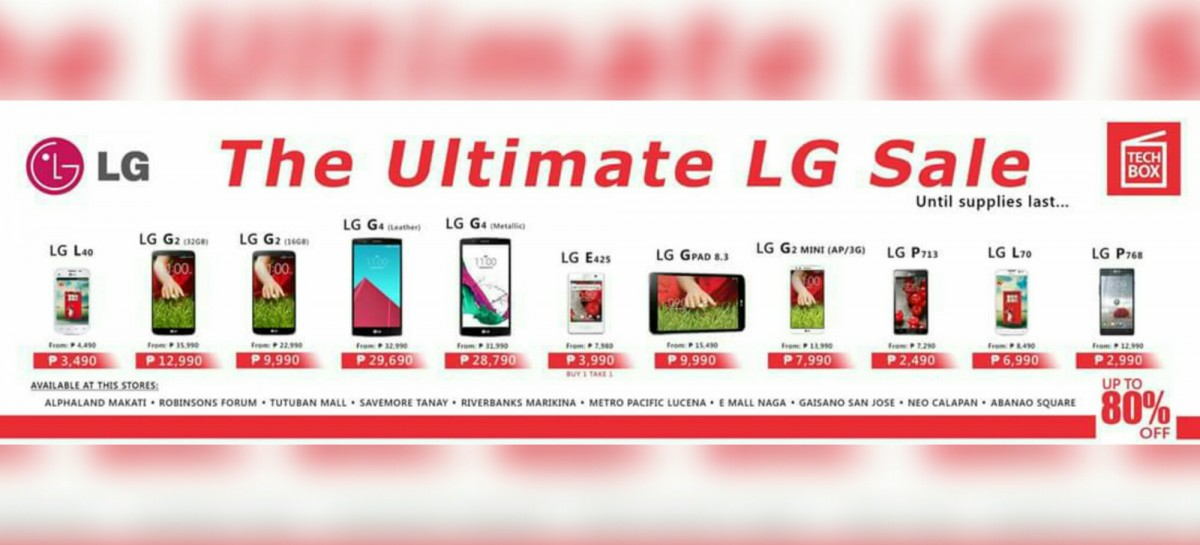 LG Phones On Sale This Weekend At TechBox Stores!