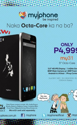 MyPhone's New My31 Smartphone Offers Octa-Core & HD Display For PHP 4,999