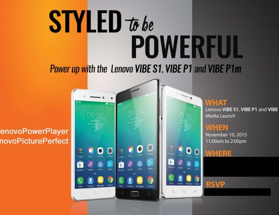 We've Live Blogging The Lenovo Vibe S1, P1, & P1m Launch Today! Tune In Here!