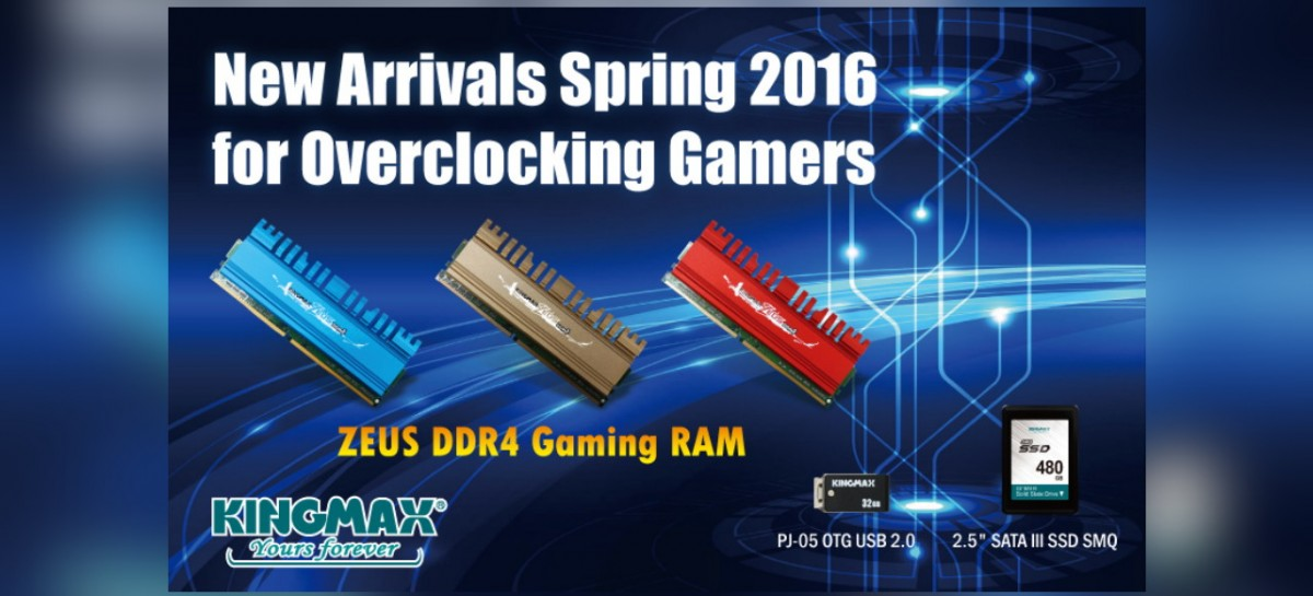 Kingmax Launches Zeus DDR4 Gaming RAM With Up To 3,200MHz Speeds