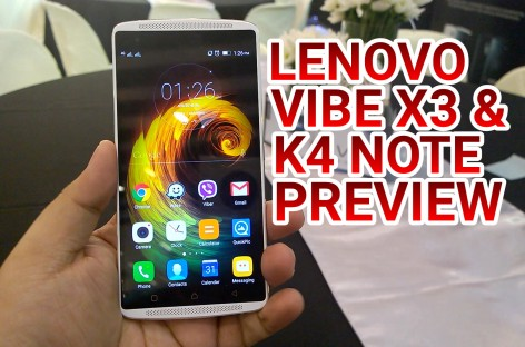 Lenovo Launches Vibe X3 & Vibe K4 Note VR-Centric Smartphones With Dolby Audio