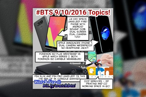 BTS Podcast 9/10/2016 – Apple iPhone 7, Apple Watch 2, LG V20, PS4 Slim & Pro, Pokemon Go Band, OCD Services
