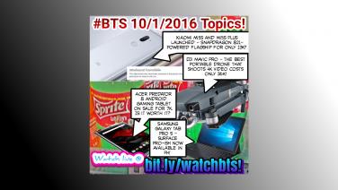 BTS Podcast 10/1/2016 – Xiaomi Mi5s & Mi5s Plus, Acer Predator 8 Sale, Samsung Galaxy Tab Pro S, DJI Mavic Pro
