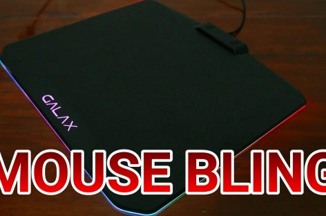 PIMP YOUR MOUSING SURFACE! (GALAX SNPR RGB Mouse Pad Review)
