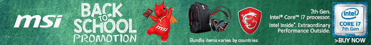 MSI Back To School Promotion