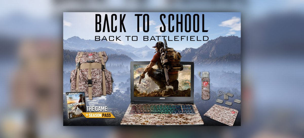 "MSI Offers Up ""Back To School"" Deals For Notebook Shoppers"