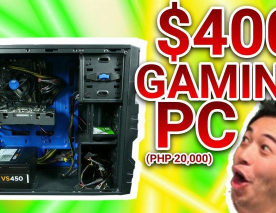 US$400 / PHP 20,000 BUDGET PUBG GAMING PC!