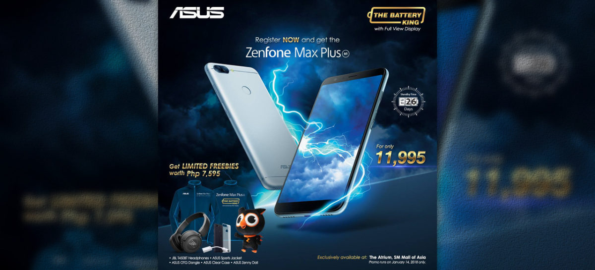 Asus ZenFone Max Plus To Launch At PHP 11,995 With A Ton Of Freebies