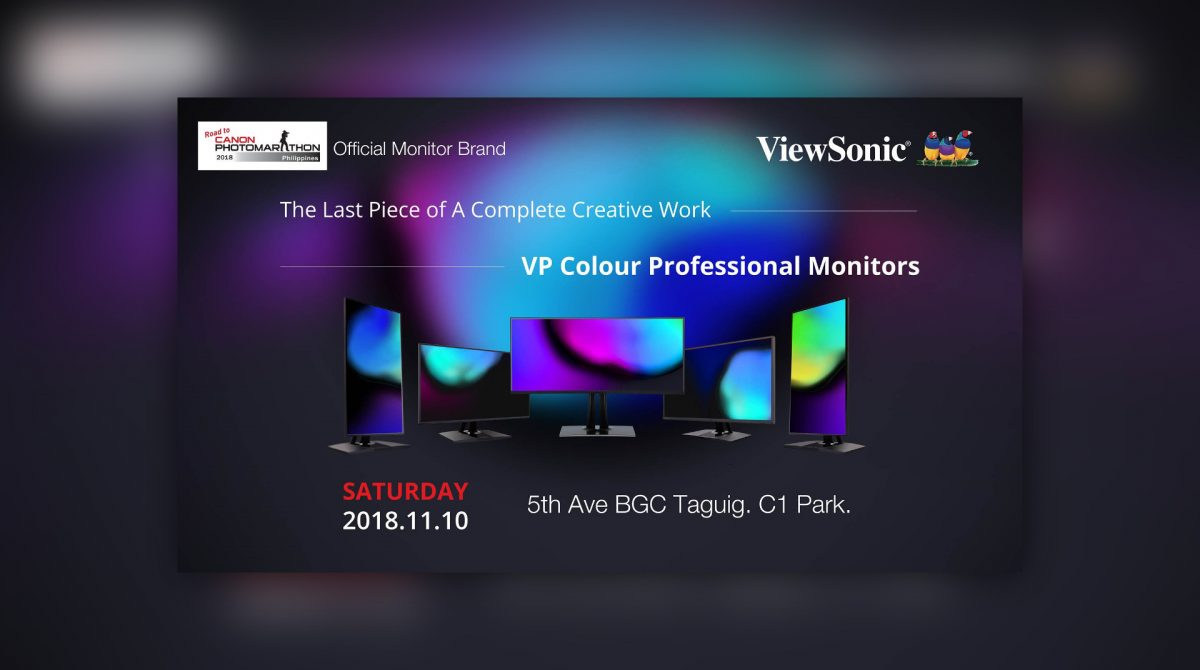 Canon PhotoMarathon 2018 Brought To You In Part By ViewSonic Professional Monitors