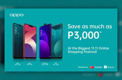 Score up to 25% off on select OPPO Smartphones on Annual 11.11 Online Shopping Festivals